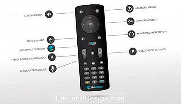 Controle remoto Decodificador digital Android TV TIMvision da TIM