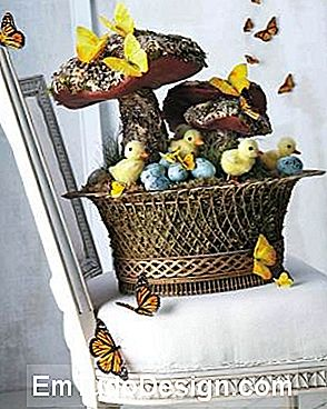 Cesta de Páscoa, do blog de Martha Stewart