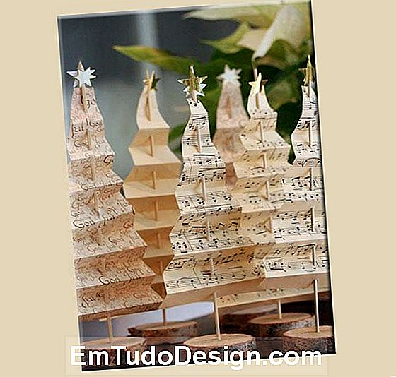 Decorações de papel Paper Christmas trees, por lyckoslanten.blogspot.it