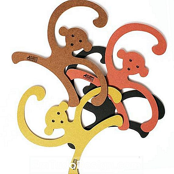 hanger collectie Geel Monkey Hanger van Our Children's Gorilla