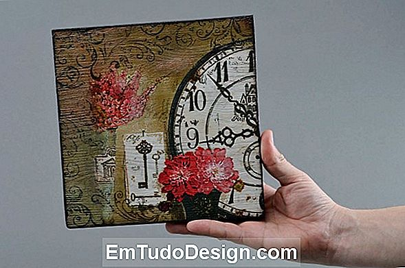Decoupage en la pared