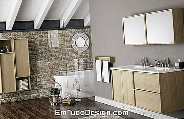 Mueble de baño moderno: modular, suspendido y coloreado