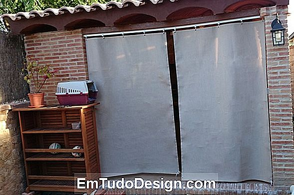 Mude as guias para as cortinas