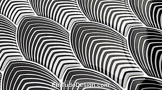 Black & White by Gemanco design: mosaicos de resina tridimensional em estilo op-art